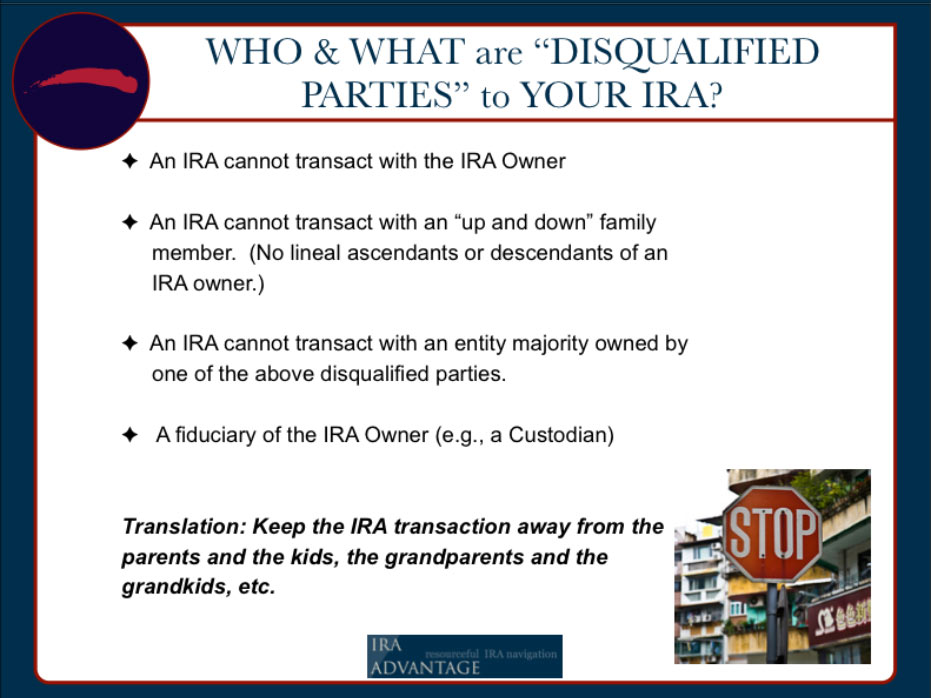 Who And What Are Disqualified Parties To Your IRA