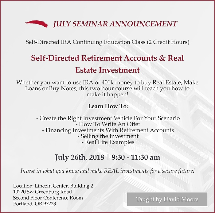 IRA Advantage July Seminar