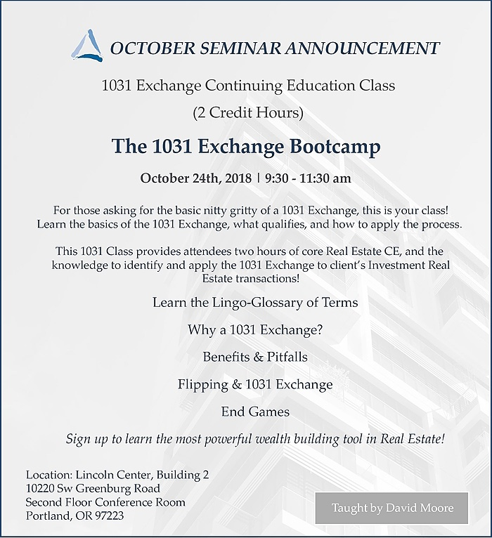 October Equity Advantage Seminar