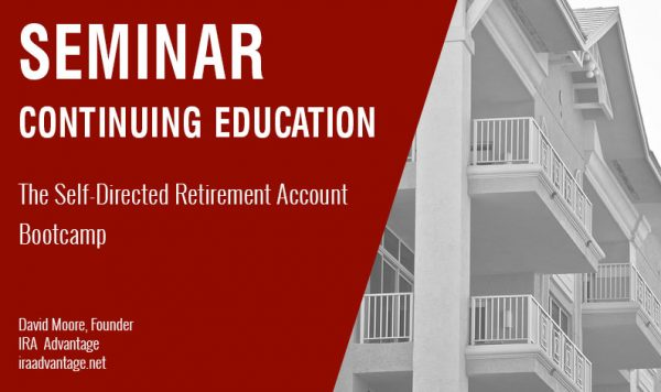 The Self-Directed Retirement Account Bootcamp, Thursday October 25th