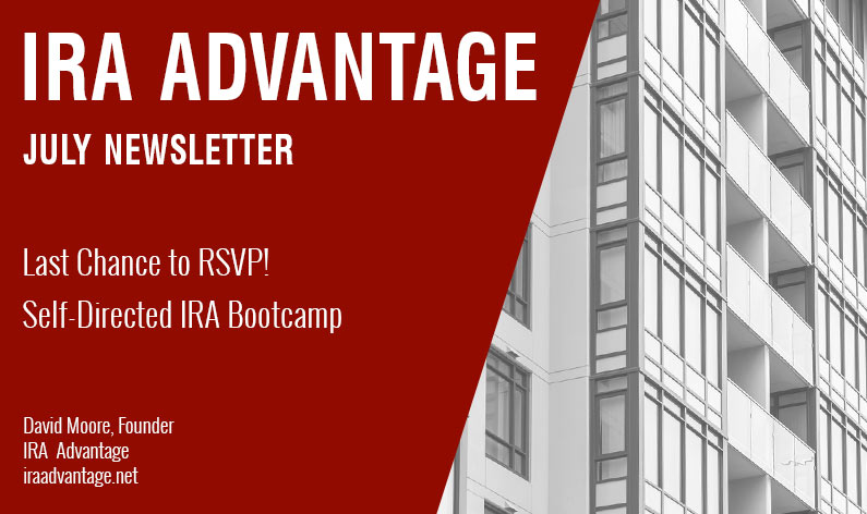 Last Chance to RSVP! Self-Directed IRA Bootcamp