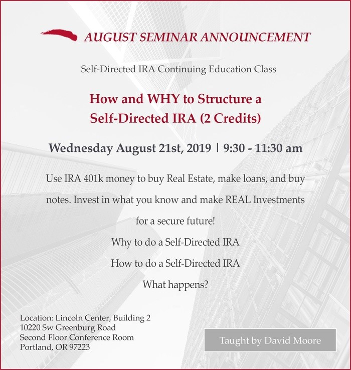 How and Why to Structure a Self-Directed IRA