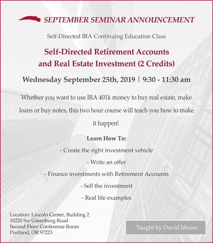 Self-Directed Retirement Accounts and Real Estate Investment