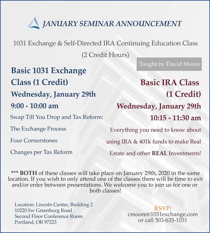 January Seminar Flyer