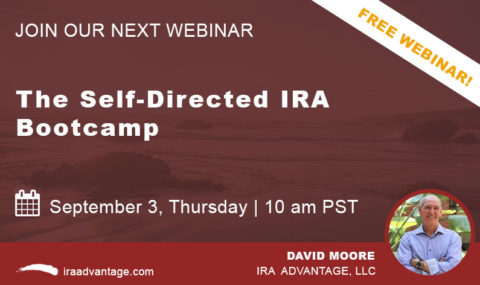 WEBINAR: The Self-Directed IRA Bootcamp, Thursday September 3rd, 2020