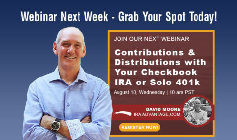 Save Your Spot! Contributions & Distributions with Your Checkbook IRA or Solo 401k